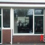 Renovatie met kunststof achterdeur en kozijnen in Gouda